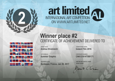 2nd Place ,Competition Instant Film Artlimited