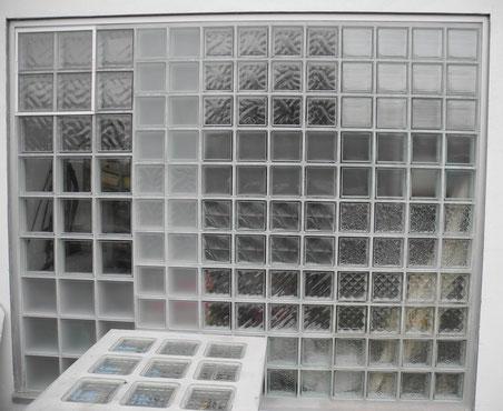 Glasbaustein Außenwand