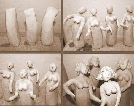 Keramikherstellung Figuren aus Ton