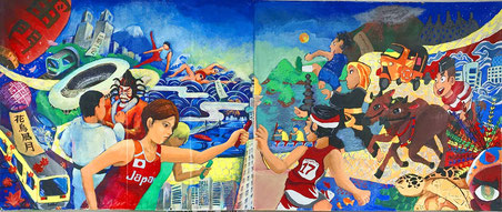 東京都多摩市立東愛宕中学校とインドネシア SMP Islam Tugasku の作品
