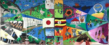 愛知県岡崎市立秦梨小学校とウガンダKasangula Talent Schoolの作品