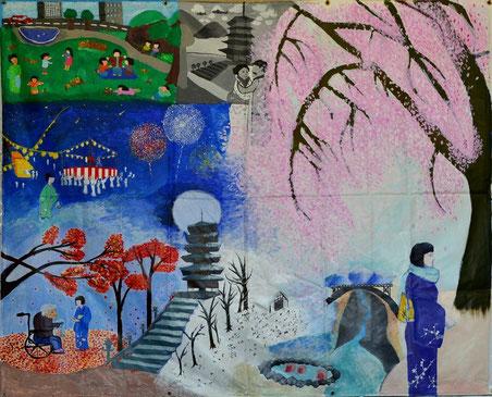 日本で半分完成した壁画の紹介 japan art mile