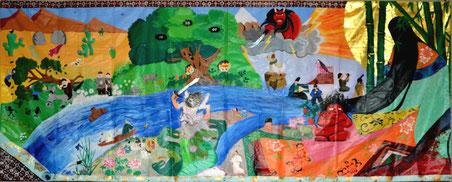 東京都 都立田柄高等学校とパキスタンModernage Public School & Collegeの作品