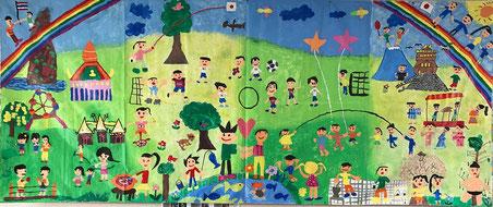 坂井市立鳴鹿小学校とタイChulalongkorn Univ. Demonstration Schoolの作品