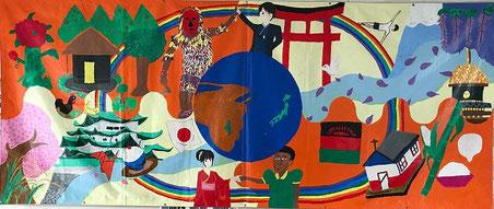 津島市立津島北小とマラウイChitedze L.E.A. Primary Schoolの作品