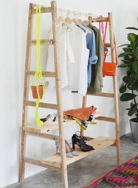 Ich war eine Dose Upcycling Recycling Do it yourself DIY nachhaltig Umweltschutz Leiter Garderobe Kleiderschrank Design Minimalismus zero waste