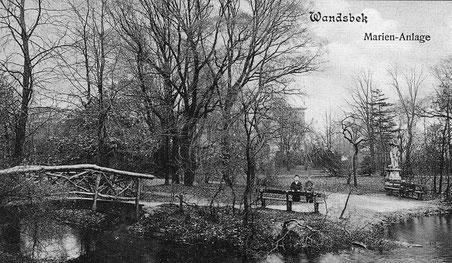 Postkarte Marienanlage um 1906