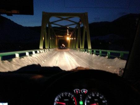 am6:19 かなやま湖に架かる鹿越大橋