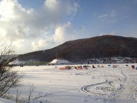かなやま湖(2014年1月4日)