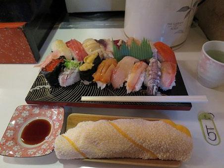 最特上寿司(税込2,200円)
