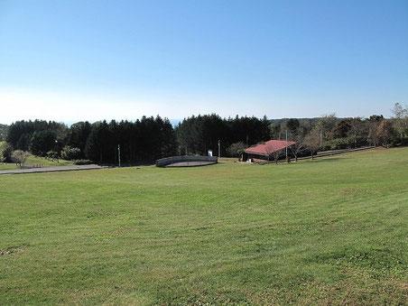 とても広い芝生が見渡す限り広がります。