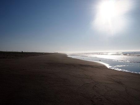 am6:21 しらぬか恋問の裏の海岸