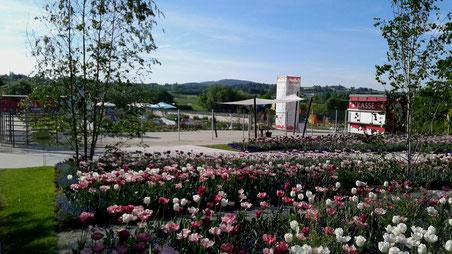 Eingang und Ausgang West Landesgartenschau Bayreuth 2016