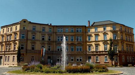 Blick zum Brunnen am Wilhelmsplatz in der Festspielstadt Bayreuth © Copyright by Olaf Timm