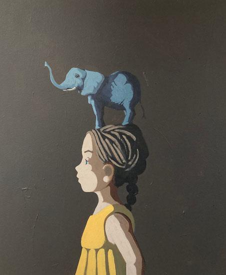 elephant - Acryl auf Leinwand, 60x50cm, 2021