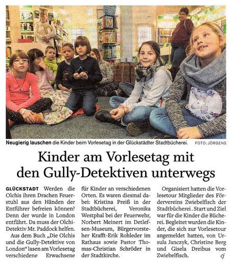 Kinder am Vorlesetag mit den gully-Detektiven unterwegs