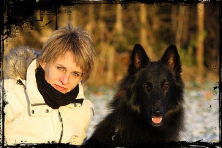 Janine mit Black Jack vom Sommeranger