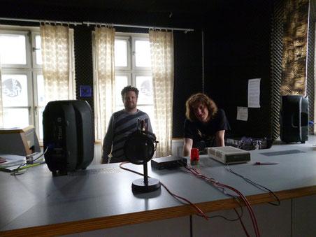 Der Kunstbauraum bei Radio Free FM