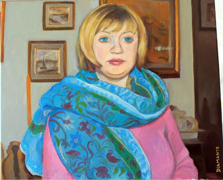 Tatiana, opera di Patrizia Diamante, olio su tela. 2014