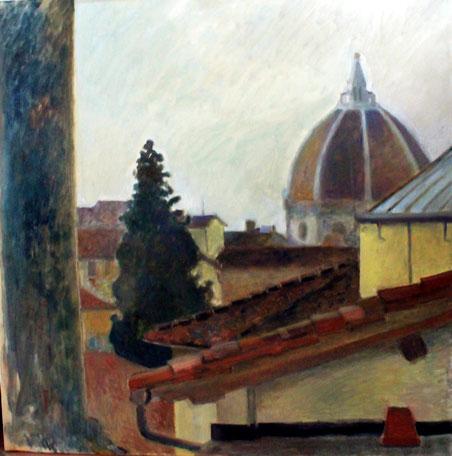 Cupola del Brunelleschi vista dall'Accademia - 1986