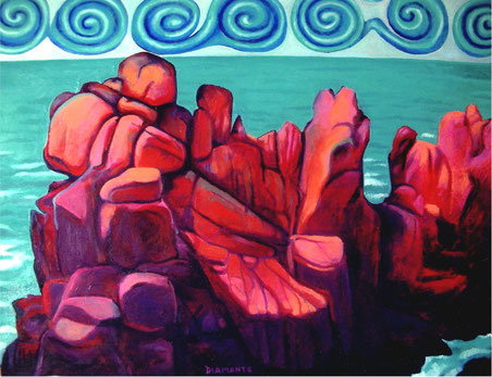 Capo Pavone, Isola di Brehat, olio su tela, 2007