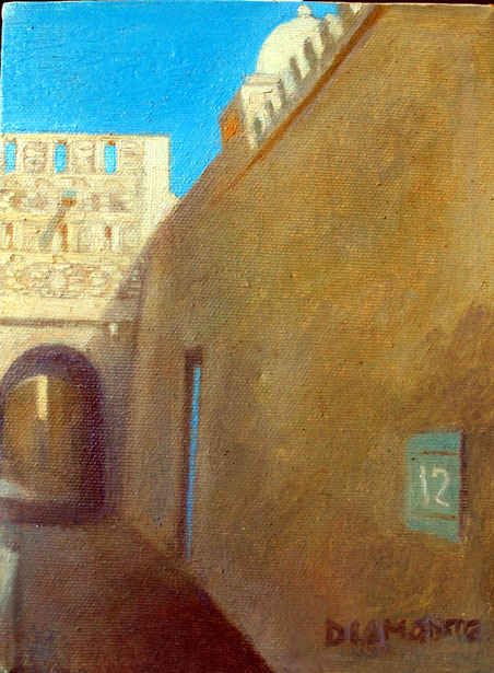 Kairouan, Tunisia. Piccolo olio su tela, 1985