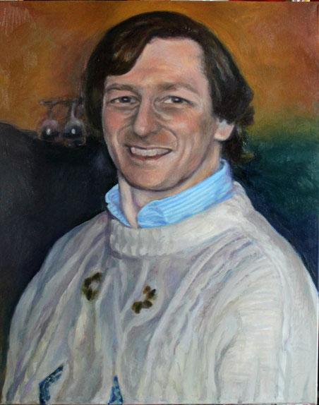 Alessandro Asciolla, olio su tela 60 x 50