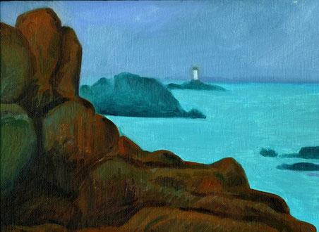 Scogliere bretoni, olio su tela, 2007
