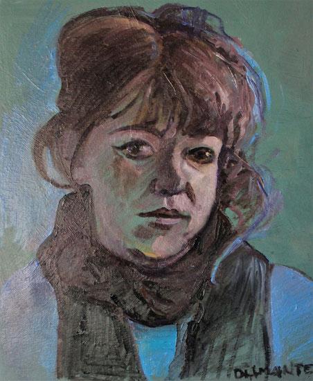 Autoritratto, olio su tela 2019
