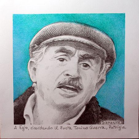 Tonino Guerra, disegno con dedica