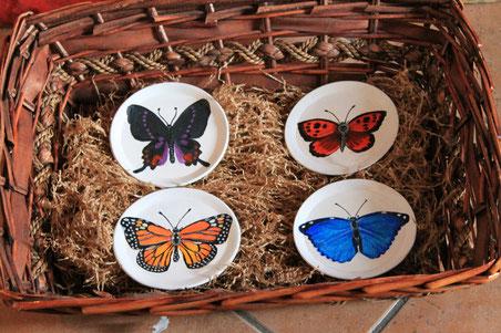 Farfalle sottobicchieri.