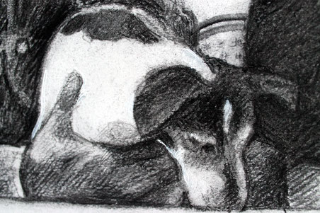 Particolare di un disegno con doppio ritratto, particular of a drawing with a double portrait