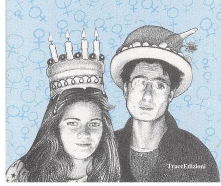"""Disegno di copertina de """"La nostra idioma"""", con Francesca Palazzi Arduini, 1994"""