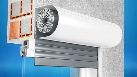 Front mounted shutters
