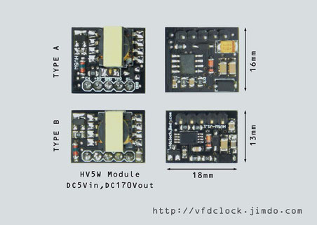HV5W 5V to 170V NIXIE High Voltage Power Supply Module