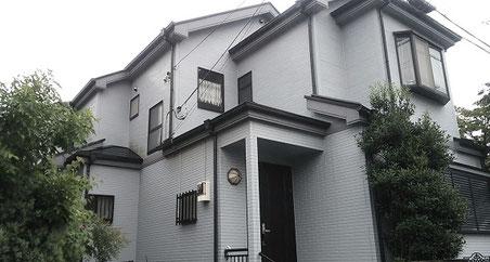 越谷市の戸建住宅、外壁塗装・屋根塗装工事前の写真