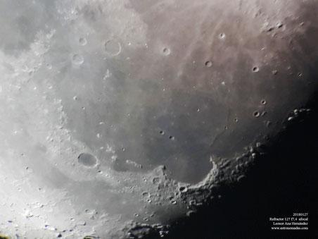 Imagen tomada con teléfono móvil asomado al telescopio TEDI+