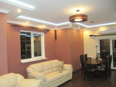 установка потолочных светодиодных светильников