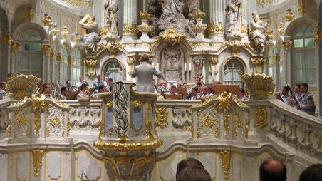30.04.2014 Frauenkirche Dresden Militärmusikkorps