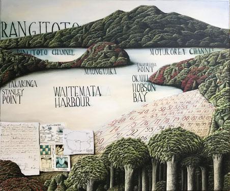 Waitemata', Oil on canvas, 100 x 120 cm SOLD