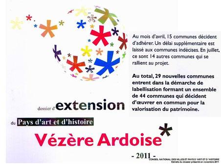 Extraits du dossier d'extension du Pays d'art et d'histoire de VEZERE ARDOISE