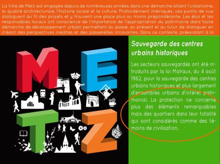 Extraits du dossier de candidature de METZ Ville d'art et d'histoire