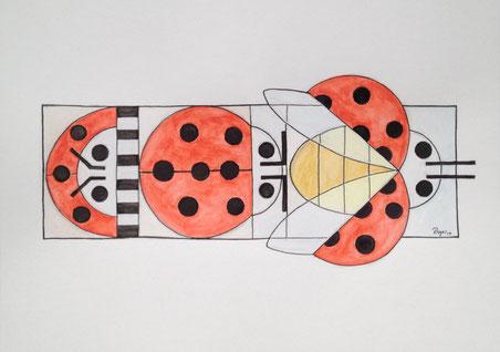 Hadi Iki Bin On Bes, 21x29cm, Aquarell und Tinte auf Papier, 2014