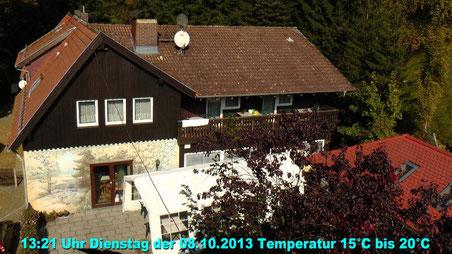Wetter vom Dienstag den 08.10.2013 um 13:21 Uhr Temperatur 15°C bis 20°C blauer Himmel und Sonne pur