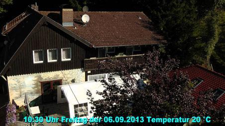 Wetter vom Freitag den 06.09.2013 um 10:30 Uhr Temperatur 20°C Sonne pur und blauer Himmel