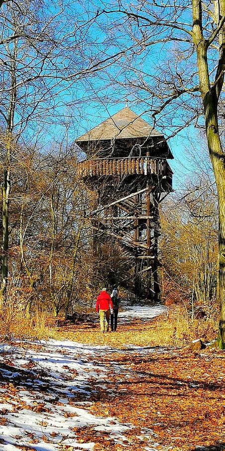 Wanderziel - Ausflugsziel Aussichtsturm Hohe Warte bei Bad Berneck
