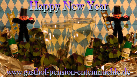 Happy New Year 2016 wünscht Gasthof-Pension Entenmühle