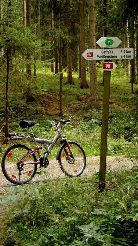 Rad- Wanderweg im Ölschnitztal Naturpark Fichtelgebirge