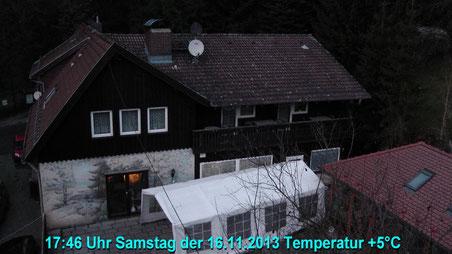 Wetter vom Samstag den 16.11.2013 um 17:46 Uhr Temperatur +5°C bedeckt, trocken.