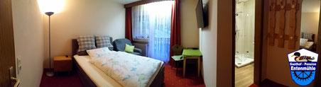 Einzelzimmer Nr. 3 mit Dusche/Wlan/WC/LED Sat-TV/Balkon